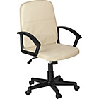 more details on Brixham Leather Effect Manager's Office Chair - Cream.