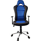 Gaming Height Adjustable Office Chair - Blue and Black