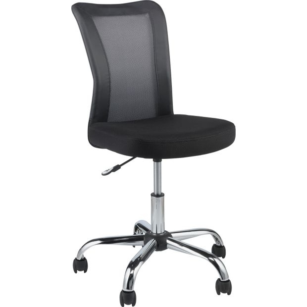 Buy reade mesh gas lift adjustable office chair black at your online shop for Argos home office furniture uk