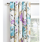 more details on Collection Edie Floral Lined Eyelet Curtains - 229x229cm.