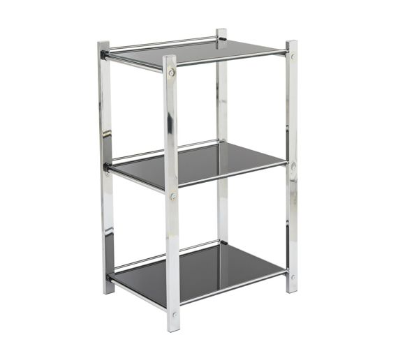 Kitchen Shelf Argos: Buy Hygena Onyx 3 Tier Glass Shelf Unit At Argos.co.uk