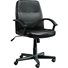 more details on Midback Leather Effect Manager's Office Chair - Black.