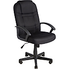 more details on Large Gas Lift Manager's Office Chair - Black.