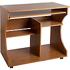 more details on Curved Computer Desk Trolley - Pine Effect.
