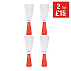 more details on HOME Everyday Set of 4 Flute Glasses - Red.
