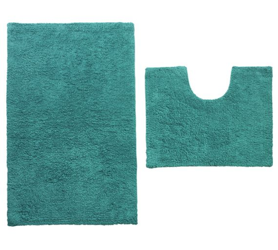 Buy colourmatch bath and pedestal set teal at for Bathroom accessories argos