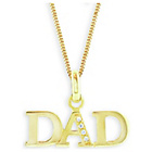 more details on Domain Gents' Gold Plated Silver Dad Pendant.