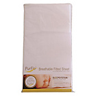 more details on PurFlo White Fitted Cot Bed Sheet - 140cm x 70cm.