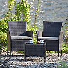 more details on The Collection Fiji Rattan Bistro Set - Grey.