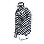 more details on Shopping Trolley - Navy Polka Dot.