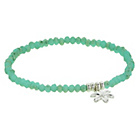 more details on Amelia Grace Green Bead and Flower Charm Stretch Bracelet.