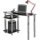 more details on Hygena Matrix Glass Office Desk - Black.