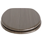 more details on Collection Wood Veneer Toilet Seat - Grey.