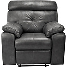 more details on Collection Cameron Leather Recliner Chair - Black.