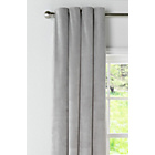 Collection Velvet Lined Eyelet Curtains -168x229- Pale Grey