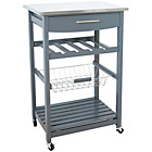more details on Hygena Odina Stainless Steel Top Kitchen Trolley.