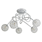 more details on Collection Amelia 5 Light Beaded Globes Ceiling Light.