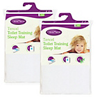 more details on Clevamama 2 Pack Tencel Toilet Training Mat - White.