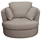 more details on Collection Milano Leather Swivel Chair - Grey.