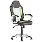 HOME Racer Style Office Gaming Chair - Green and White