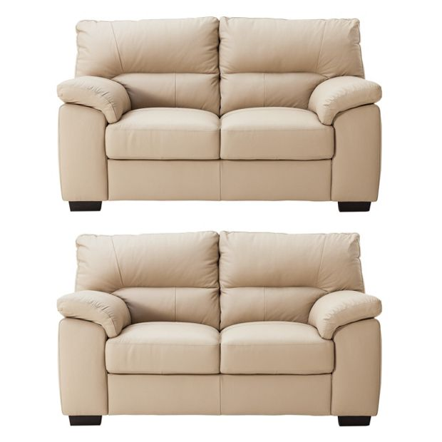 Buy Collection Piacenza Pair Of 2 Seater Leather Sofas
