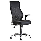 HOME Deluxe Mesh Back Chair - Black