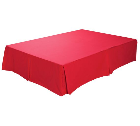 buy colourmatch poppy red valance kingsize at. Black Bedroom Furniture Sets. Home Design Ideas