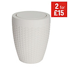 more details on Addis 5 Litre Faux Rattan Swing Bin - Cream.