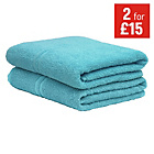 more details on ColourMatch Pair of Bath Towels - Crystal Blue.