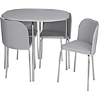 more details on Hygena Amparo Space Saving Dining Table & 4 Chairs - Grey.