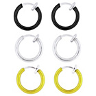 more details on My Body Candy Stainless Steel Fake Hoops - Set Of 3.