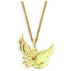 more details on Domain Gents' Gold Plated Silver Eagle Pendant.