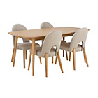 more details on Home of Style Hartwell Dining Table with 4 Cream Chairs.
