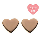 more details on Rose Gold Plated Silver Heart Stud Earrings.