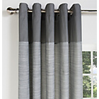 more details on HOME Norfolk Unlined Eyelet Curtains - 117x137cm - Charcoal.