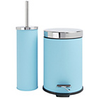 more details on ColourMatch Slow Closing Bin and Brush - Crystal Blue.