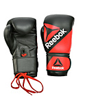 more details on Reebok 14oz Leather Training Gloves - Black/Red.