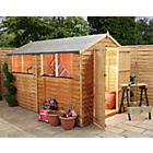 Mercia Wooden Overlap 10 x 6 Apex Shed.
