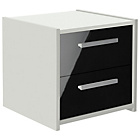 HOME New Sywell 2 Drawer Bedside Chest - White and Black