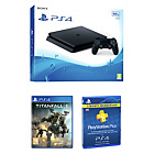 more details on PS4 500GB Slim Console, Titanfall 2, 90 Day PSN Bundle.
