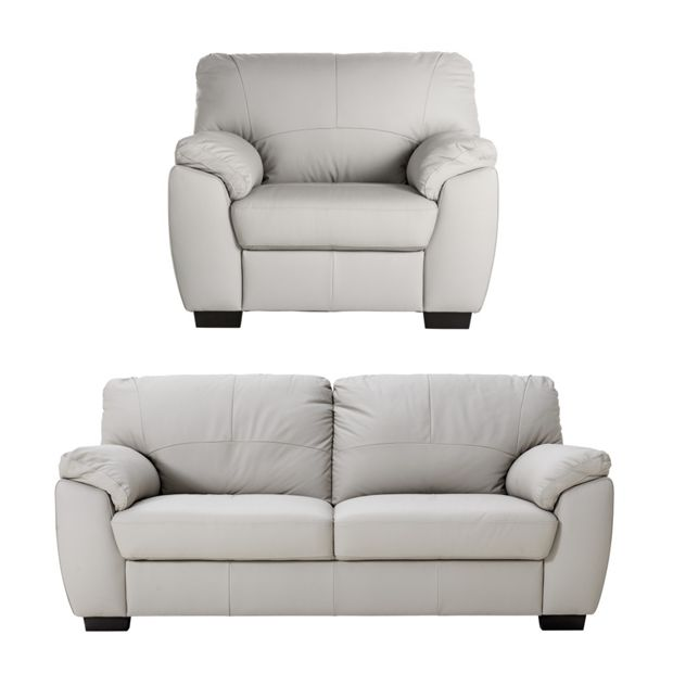 Buy Collection Milano 3 Seater Leather Sofa And Chair