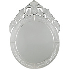 more details on Inspire Venetian Silver Oval Wall Mirror.