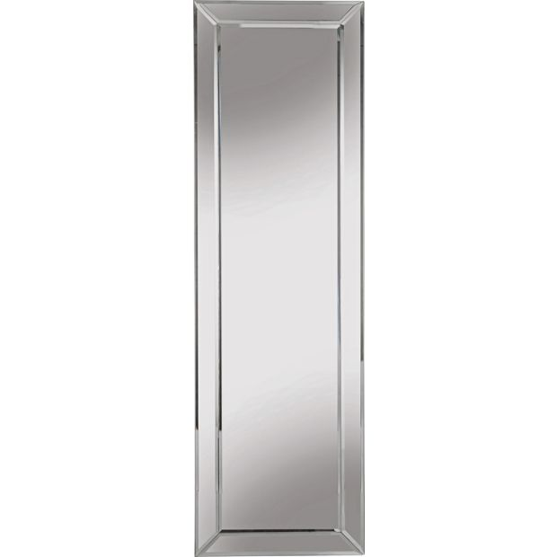 Buy collection blanche bevelled glass edge mirror silver for Where to find mirrors
