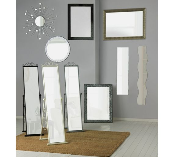 Buy Home Scroll Cheval Freestanding Mirror White At