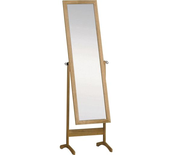 Buy Home Wooden Cheval Full Length Mirror Oak Effect At
