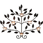 more details on Metal Leaf 6 Cup Tea Light Holder Wall Art.