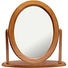 more details on HOME Oval Dressing Table Mirror - Oak Effect.