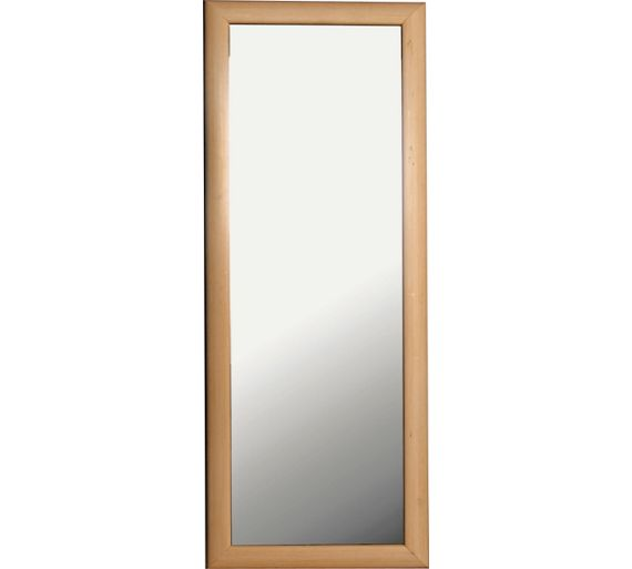 Buy simple value pine effect framed tall wall mirror at for Tall framed mirror