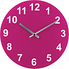 more details on ColourMatch Funky Fuchsia Round Glass Wall Clock.