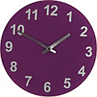 more details on ColourMatch Purple Fizz Round Glass Wall Clock.